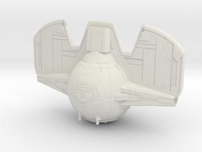 Tie fighter Inquisitor Body 1/144 scale in White Natural Versatile Plastic