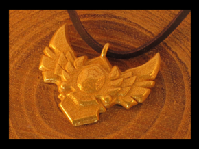 LOL this is a cheaper gold medallion! 3cm in Polished Gold Steel