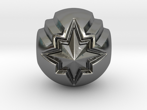 Captain Marvel Pandora Charm in Polished Silver