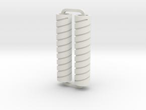 Slimline Pro spiral 07 lathe in White Natural Versatile Plastic