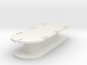 Earphones Holder - Universal in White Natural Versatile Plastic