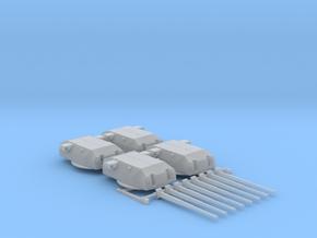 "1/600 H Class 40.6 cm/52 (16"") SK C/34 Guns in Smooth Fine Detail Plastic"