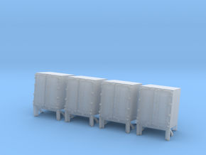1/144 Ammo Locker for Hedgehog Thrower Set x4 in Smooth Fine Detail Plastic