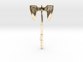 MasterMakedForceAxe1ptv1 in 14k Gold Plated Brass