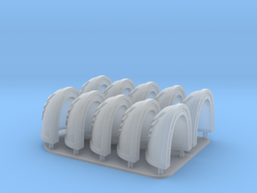 Raven Wing Shoulderpads 10x 40k in Smooth Fine Detail Plastic