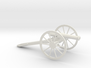 1/48 Scale American Civil War Cannon M1857 12- Pou in White Natural Versatile Plastic