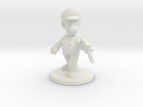 Luigi survivor 1/60 miniature for games and rpg in White Natural Versatile Plastic
