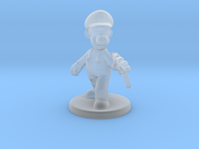 Luigi survivor 1/60 miniature for games and rpg in Smooth Fine Detail Plastic