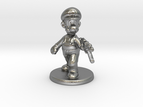 Luigi survivor 1/60 miniature for games and rpg in Natural Silver