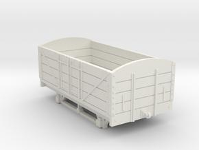 L&BR Open Wagon w/o Buffers OO Scale in White Natural Versatile Plastic