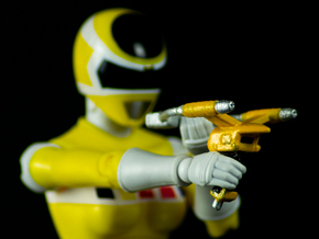 Space Yellow Accessory  - Power Rangers  in White Natural Versatile Plastic