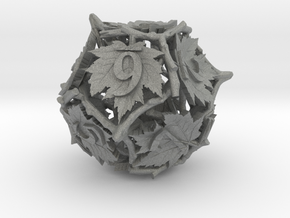 Botanical d12 Ornament in Gray PA12