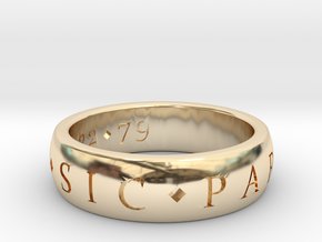 Engagement custom in 14k Gold Plated Brass