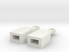 Bachmann On30 NEM coupling adapter in White Natural Versatile Plastic