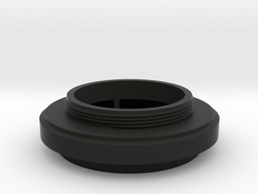 Meyer-Optik Trioplan 1:3.5/45 lens adapter in Black Natural Versatile Plastic
