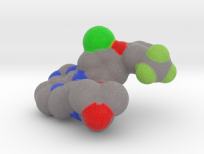 EGFR TK Mutant Small Molecule Inhibitor (3W2O) in Natural Full Color Sandstone: Small