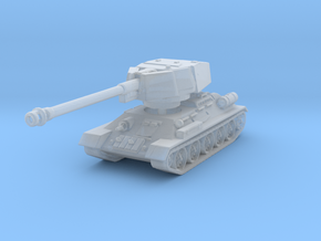 T34-100 tank scale 1/285 in Smooth Fine Detail Plastic