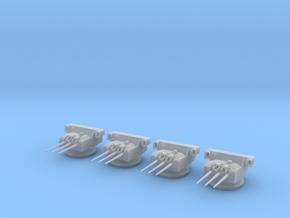 1/400 IJN 15.5cm / 60 3rd Year Type naval Gun Set in Smooth Fine Detail Plastic