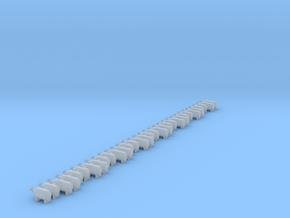 Set of 32 - NOS Bottles horizontal in Smooth Fine Detail Plastic