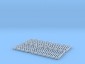 Set of 4 - Roof Basket without Lights two Lengths in Smooth Fine Detail Plastic
