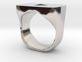YouTube Ring in Rhodium Plated Brass