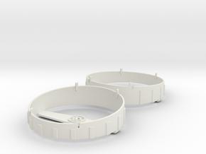 WHALE Complete Fan Shroud Set in White Natural Versatile Plastic