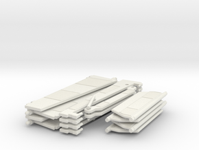 WHALE Complete Hinged Vanes Set (x2) in White Natural Versatile Plastic