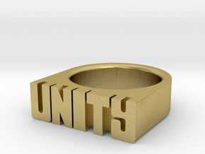15.7mm Replica Rick James 'Unity' Ring in Natural Brass