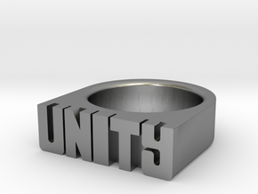 15.0mm Replica Rick James 'Unity' Ring in Natural Silver