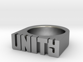 21.8mm Replica Rick James 'Unity' Ring in Natural Silver