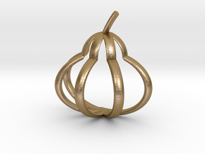Pear Pendant in Polished Gold Steel