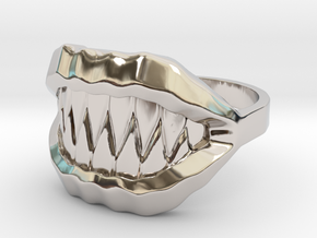 Ring of the Mimic in Rhodium Plated Brass: 6 / 51.5