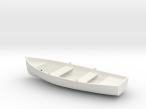 1/35 Wherry Life Raft Boat (Dinghy) in White Natural Versatile Plastic