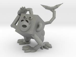 Monkey #3DblockZoo in Gray PA12