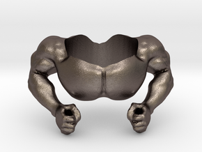 """""""Muscles"""" Accessory for Google Home  in Polished Bronzed-Silver Steel"""
