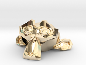 Suzanne the Monkey - Blender 2.8 in 14k Gold Plated Brass
