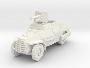 Marmon Herrington mk2 (47mm gun) 1/87 in White Natural Versatile Plastic