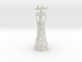 35 foot light tower n scale in White Natural Versatile Plastic