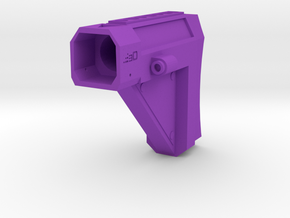 Laser Pulse Carbine Shoulder Stock for Nerf Modulu in Purple Processed Versatile Plastic