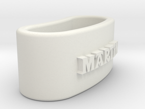 MARTIN 3D Napkin Ring with lauburu in White Natural Versatile Plastic