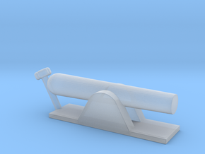 N NAVAL CANNON in Smooth Fine Detail Plastic