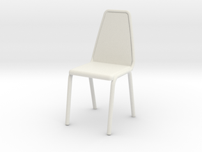 1:24 Vinyl Stacking Chair in White Natural Versatile Plastic: 1:24