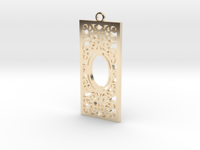 Titanic Pendant: Dining Room Grill in 14k Gold Plated Brass