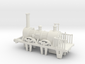00 Scale Large Samson Loco in White Natural Versatile Plastic