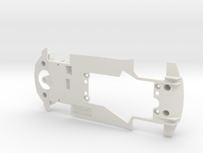 PSCA00203 Chassis for Carrera Audi R8 LMS GT3 in White Natural Versatile Plastic