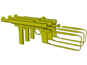1/15 scale Carl Gustav M-45 submachineguns x 3 in Smooth Fine Detail Plastic