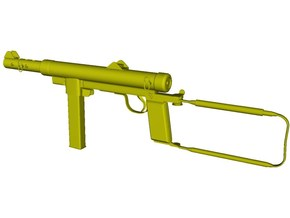 1/16 scale Carl Gustav M-45 submachinegun x 1 in Smooth Fine Detail Plastic
