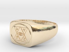 Ring of Detect Magic in 14k Gold Plated Brass: 6 / 51.5