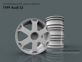 1999 Audi S3 1/10th RC wheel in White Natural Versatile Plastic