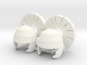 MYCENAEAN HELMET 3 X2 in White Processed Versatile Plastic